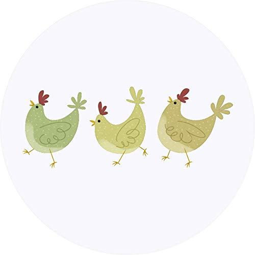 Azeeda 24 x 40mm Runden 'Hühner' Aufklebern / Stickers (SK00018022)