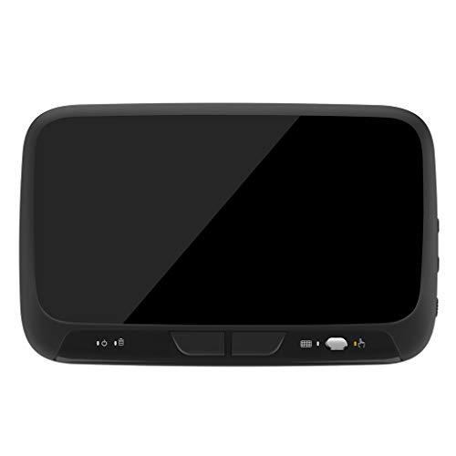 Huiingwen Mini Teclado Inalámbrico con Retroiluminación y Touchpad Completo Compatible con Phone TV Box PC Xbox3 PS4, H18 + H18 Plus 2.4 GHz Teclado