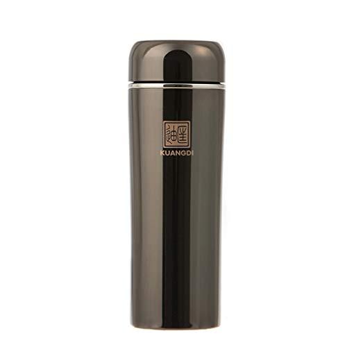 FAPROL mannen waterfles dubbele laag roestvrij staal thermosfles met thee afvoer zakelijke stijl houden koud of warm 6-12 H