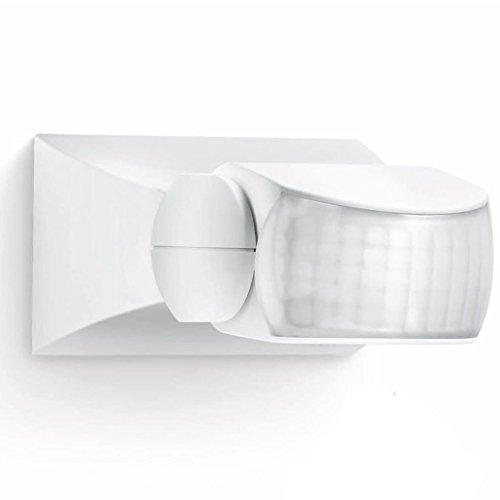Steinel 600310 - Detector de movimiento infrarojo IS 1, sensor de movimiento para dentro y fuera con 120° ángulo de detección, color blanco, 12 x 8 x 5 cm
