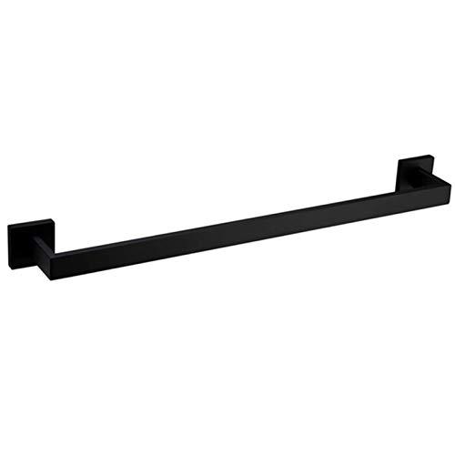 YKW Barra de Toalla de Acero Inoxidable de Primera Calidad Barra de Toalla de Toalla montada en la Pared de la Pared para el baño Mate Negro de 16 Pulgadas (Color : Black)