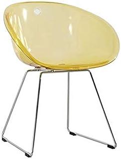 YUTRD ZCJUX Minimalista Moderno diseño Transparente Claro de la Cena la Silla de plástico acrílico clásico Moderno con el ...