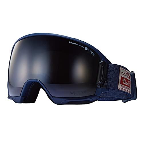 DICE (ダイス) スノーゴーグル HIGHROLLER ハイローラー HR14362 NAV ブラックミラー×偏光グレイ ULTRAライトパープル 日本製 スキー スノーボード