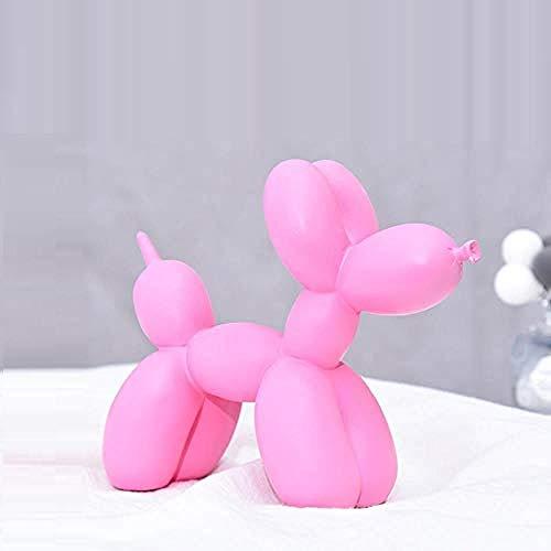 Buiten Beeld Buste Ballon Hond Ornament Dier Thuis Desktop Decoratie Cadeau Roze