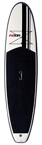 NSP Surfboard Oxygen Sup Inflatable - Tabla de Surf, Color Negro/Blanco, Talla 12'0''