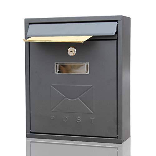 Brievenbussen Postbussen voor buiten, Europese minimalistische wandmontage bedrijf Suggestion Box,Small Lock Metal Letter Box,26x9.5x31cm Security Letterboxen