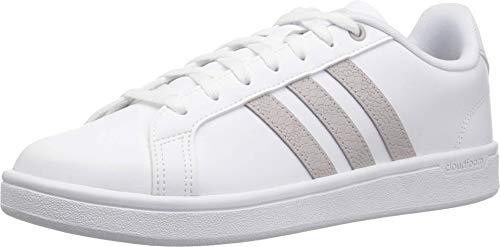 adidas Women's Cloudfoam Advantage Cl Sneaker, White/ice Purple/Light Granite, 9.5 M US