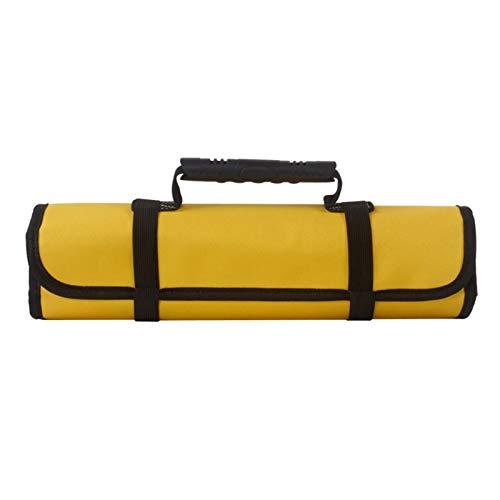 Tool Bag,CinturóN Para Herramientas Bolsas de herramientas multifunción Mangos de transporte prácticos Bolsas de rodillos Oxford Canvas Chisel Electrician Toolkit Nuevo caso de instrumentos