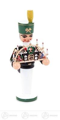 """Weihnachtsfigur Engel und Bergmann Miniatur mit Schwibbogen """"Erzgebirge"""" – Holzfigur – Höhe ca. 7 cm - Erzgebirge – NEU"""