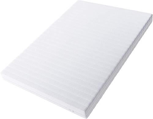 Hilding Sweden Essentials Schaumstoffmatratze in Weiß / Mittelfeste Matratze mit orthopädischem 7-Zonen-Schnitt für alle Schlaftypen (H2-H3) Classic / 200 x 140 x 16 cm