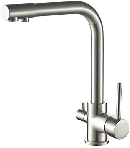 Grifo de bidé de baño grifo de agua potable giratorio de latón de 3 vías purificador de filtro de agua grifo de fregadero de cocina