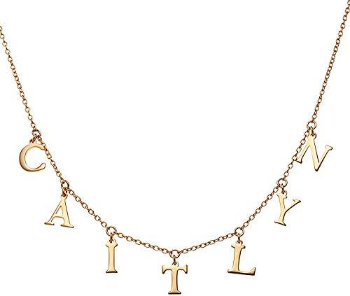 SHAREMORE Collar personalizado con nombre personalizado para hacer cualquier nombre collar con colgante. plateado