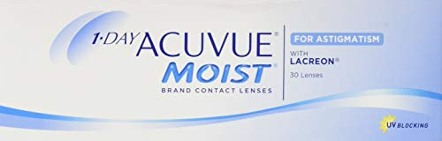 Acuvue 1-Day Acuvue Moist For Astigmatism Tageslinsen weich, 30 Stück/ BC 8.5 mm / DIA 14.5 mm/ CYL -1.25 / ACHSE 50 / -0.5 Dioptrien