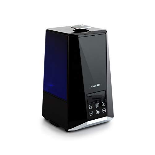 Klarstein VapoAir Onyx Humidificador - Ionizador Adicional, Difusor de Aroma, 350 ML/h, Depósito de 5,5 litros, LED, Temporizador, Autoapagado, Control táctil, Mando a Distancia, Negro