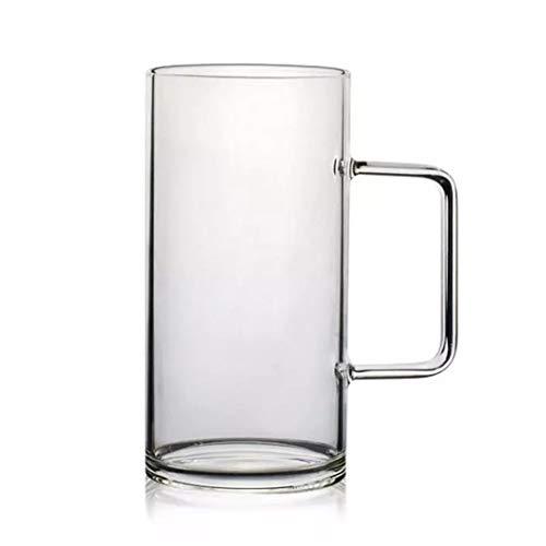 Juego de tazas de cerveza,Tazas de vidrio con mango 23 onzas,Grandes vasos de cerveza para congelador,Vasos de cerveza 700 ml,Pub beber tazas de agua para bar