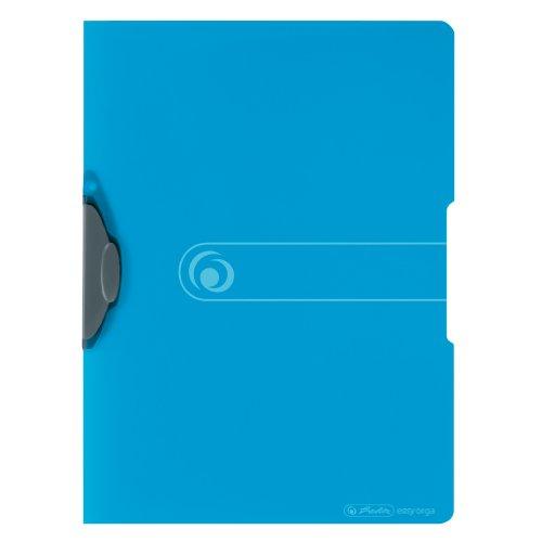 Herlitz 11206455 Express-Clip 5er Pack A4 transparent blau