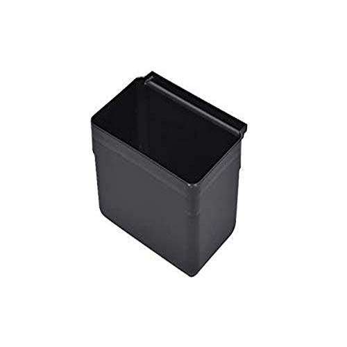 RW Clean 13 Inch x 7 Inch Bus Tub, 1 Small Bus Box - Attachable, Commerical, Black Plastic Restaurant Tub, Fits Rolling Utility Cart, Heavy Duty - Restaurantware