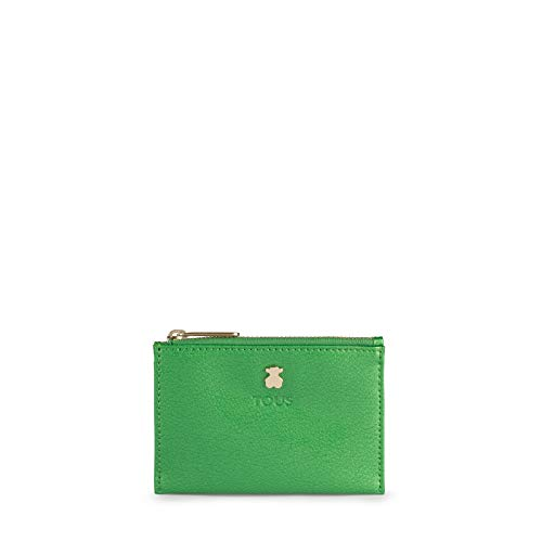 Tous 2001054439 - Tarjetera para Mujer, Verde, 11.5 x 8 x 1 cm