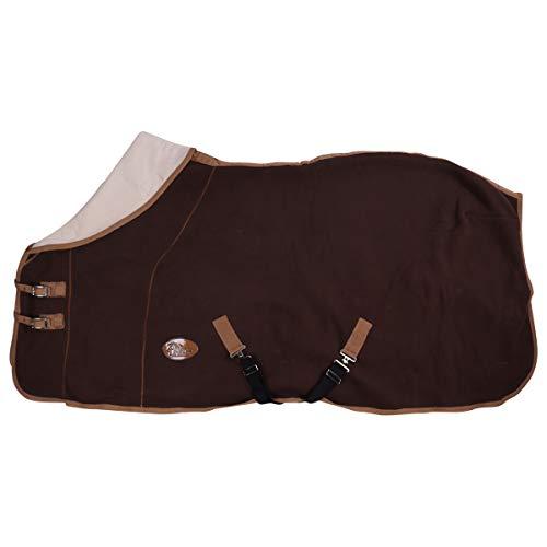 Harry's Horse Teddyfleece deken 1/2 Hals, Farbe:braun, Größe:155cm