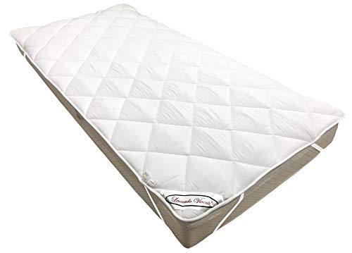 Leonado Vicenti Matratzen-Auflage Unterbett Soft-Topper in verschiedenen Größen, Made in Europe, Micro-Comfort Auch für Boxspringbetten geeignet, Mit Eckgummis (90 x 200 cm)