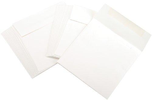 Leader Paper Products-Buste quadrate 15 cm x 15 cm, Colore: Naturale