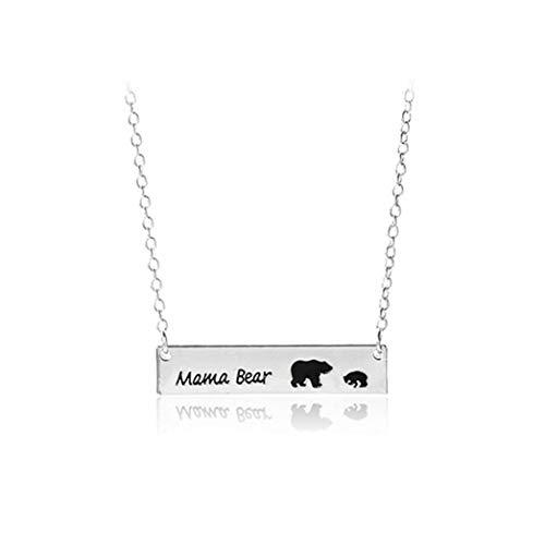 XQWR Collar de oso para mujer con colgante de oso para mamá (estilo 1)