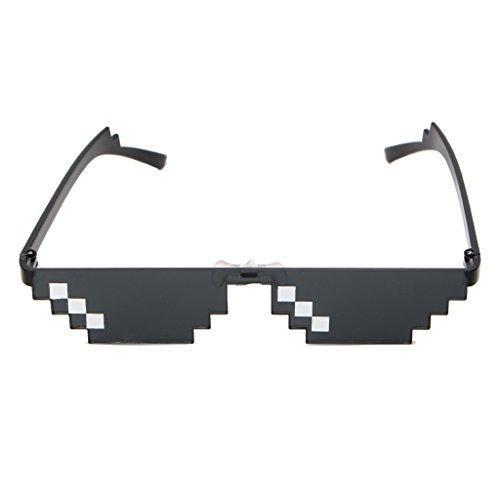 SimpleLife Coole 3 Bit MLG Pixelated Sonnenbrille Deal mit ihm Brille Mosaik Pixel SonnenbrilleSchwarz