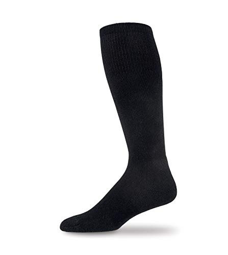 thorlos Unisex-Erwachsene Western Boot Thin Padded Over The Calf Socks Unterziehsocken, schwarz, Large