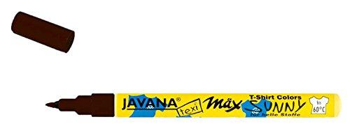 Kreul 90671 - Javana Texi Mäx Sunny fine, Stoffmalstift für helle Stoffe und Textilien, waschecht nach Fixierung, mit unempfindlicher Spitze ca. 1 - 2 mm, schwarz