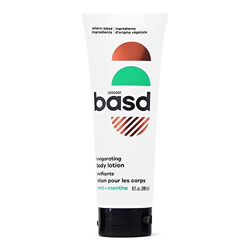 Basd Organic Body Lotion, Invigorating Mint   Natural & Moisturizing Ingredients, Vegan, Hypoallergenic, 240mL Tube