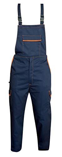 Salopette da Lavoro Multitasche Uomo Donna (Blu/Arancione, XXL)