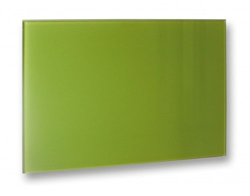 Infrarotheizung Glas rahmenlos, 500 Watt, Farbe: grün, Abmaße: 90 x 60 x 1,2 cm