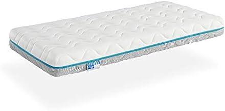 Ecus Kids, El colchón de cuna antiasfixia Oxsi Visco con doble cara una para verano y otra para invierno ayudar a prevenir la plagiocefalia - Colchón cuna 120x60