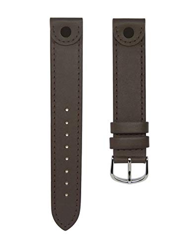 18mm TIMEWHEEL Dark Brown Leather Watch Band Fits Victorinox Swiss Army Large Cavalry & More