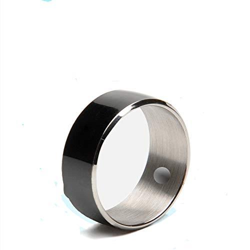 LZW Anillo Inteligente Utiliza El Dedo Impermeable Mágica NFC para Teléfonos iPhone Android iOS Samrt IC De NFC ID Tecnología De Accesorios De Tarjeta Inteligente Anillo De Vestir,Negro