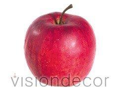 "artificial Decorative Faux Fruit for Home Decor - 2.75"" Gala Apple"