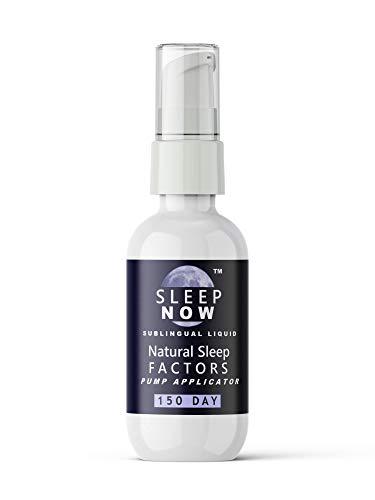 Sleep Aid - Sleep Now Natural Sleep Factors (Melatonin, GABA, L-Tryptophan, 5-HTP) 150 Day Sublingual Liquid Supplement by NUTRA Lingual (TM). Get The Best Natural Sleep Supplement. Rapid Absorption.