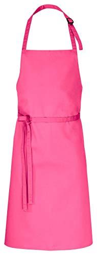 DESERMO Premium verstellbare Latzschürze 100cm x 80cm (L X B) ✓ Hochwertige Profi-Schürze für Frau & Mann ✓ Innovative Mischung aus Baumwolle & Polyester ✓ Große Farbauswahl ✓220g/m²(Pink)