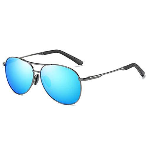 wgg De Venta Libre Gafas de Sol Hombre Conducción Pesca Ciclismo Protección de los Ojos Lentes polarizadas Visión Clara Negro y Azul Vasos Ligeros (Color : Blue)