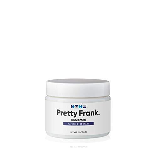 Pretty Frank Natural Deodorant Jar- No Aluminum Deodorant for Women, Men, Teens, & Kids – Paraben Sulfate Free Cream Deodorant with Shea Butter, Coconut Oil, Vitamin E & Baking Soda - Unscented (1pc)