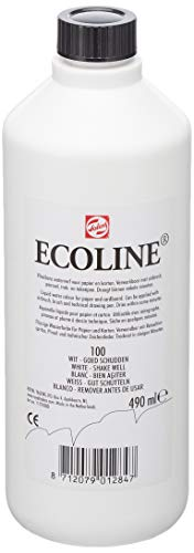 Royal Talens Ecoline Liquid Watercolor, 490ml Bottle, White (11721000)