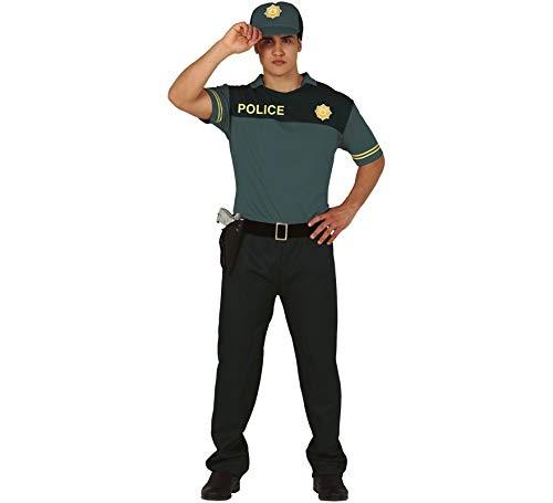 Guirca Disfraz de Policía Verde para Hombre