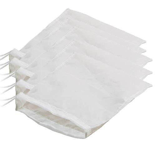 Liamostee 5pcs Wiederverwendbare feinmaschige Nylon-Nuss-Milch-K?se-Stoffbeutel-kalte Gebr?u-Kaffee-Filter-K¨¹Che