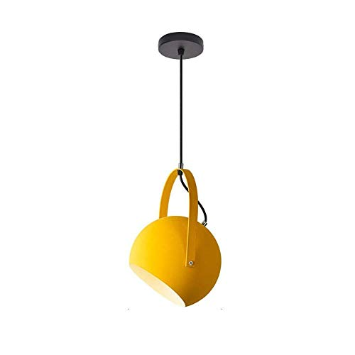 LKK-KK ModernCeiling Fixture simplicidad nórdica Pantalla de la lámpara colgante moderna minimalista E27 iluminación con cordón ajustable, Corredor de lectura Living Room Cafe Escaleras Villa Art Room