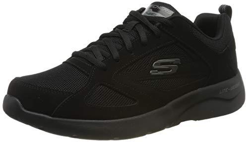 Skechers Dynamight 2.0-Fallford, Zapatillas Hombre, Negro (BBK Black Leather/Mesh/PU/Trim), 40 EU