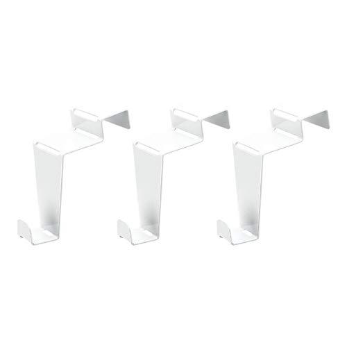Deko-Fenster- & Türhaken | Design 2 | 6,5 cm x 3 cm x 6,1 cm | weiß | 3 Stück