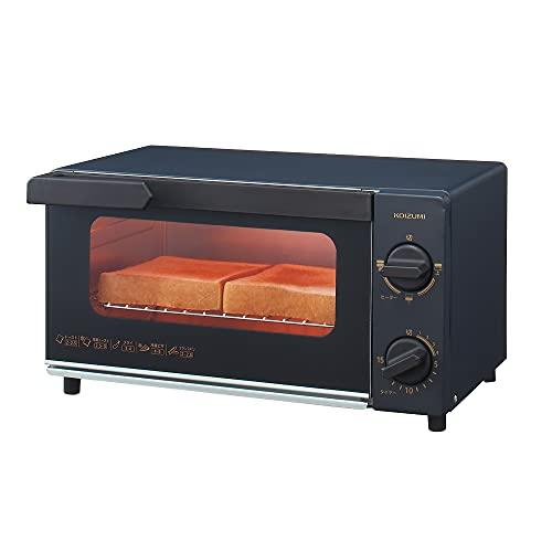 コイズミ オーブントースター 2枚焼き 1000W ブラック KOS-1032 K