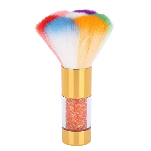 GAESHOW Soft Nail Art Dust Remover Poudre Brosse Cleaner pour Acrylique et UV Gel Blush Brush Nail Art Dust Cleaner(Or)