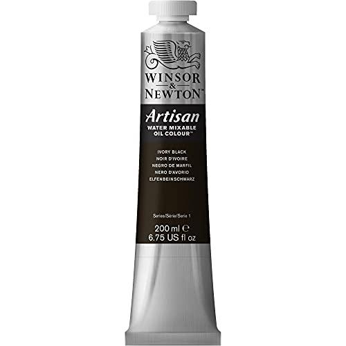 Winsor & Newton Artisan Water Mixable Oil Colour Paint, 200ml Tube, Ivory Black