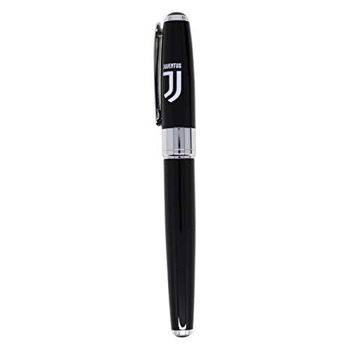 Bolígrafo roller de latón con cuerpo negro, caja de regalo del club Juventus, producto oficial